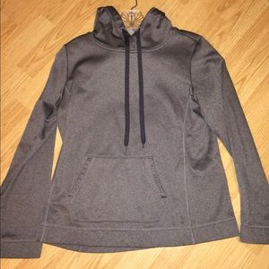 Grey athletic hoodie